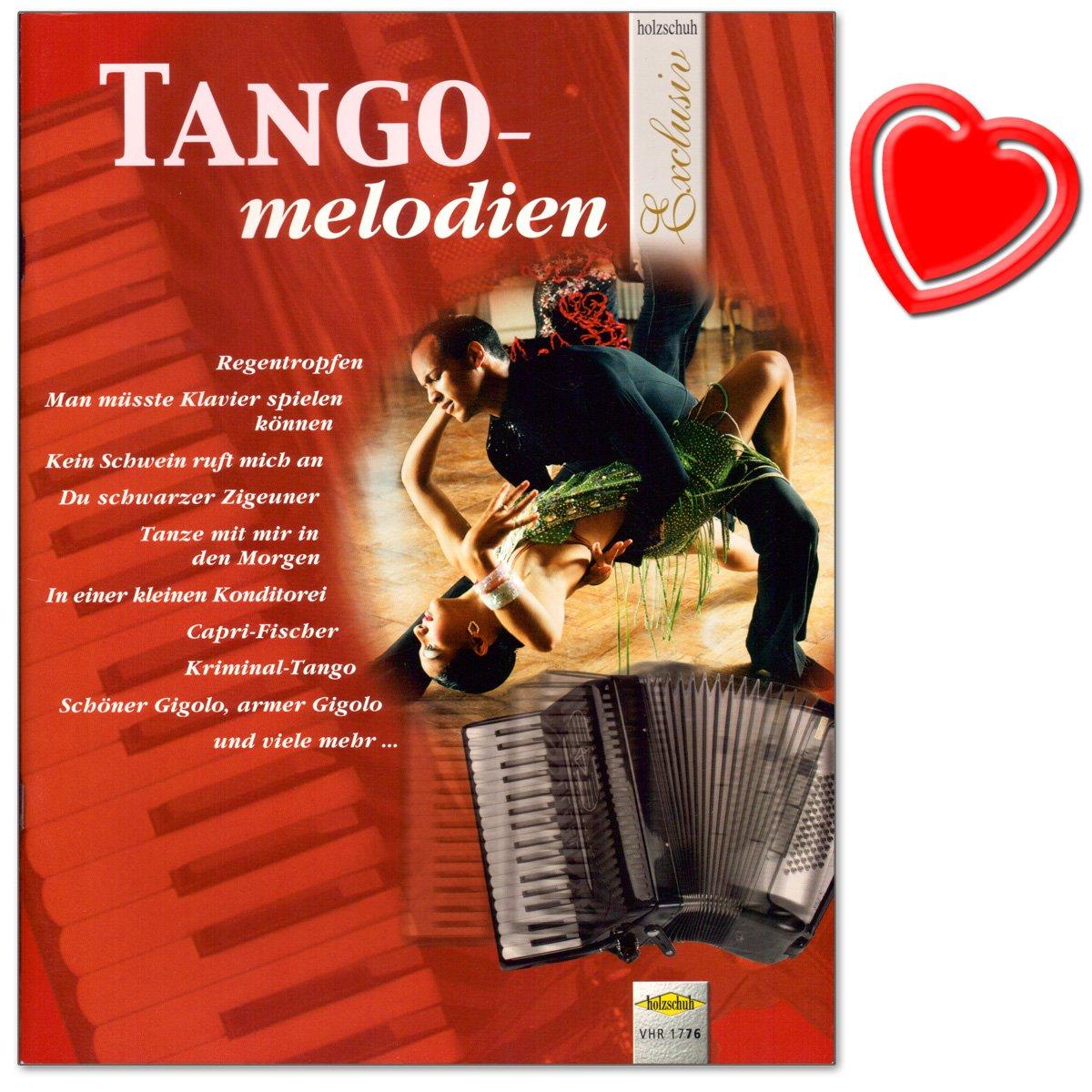TANGO Mélodies pour accordéon–Belles bearbeitungen dans le domaine mittelschweren erfreuen tout joueur–Accordéon Notes avec cœur Note colorée Pince Holzschuh