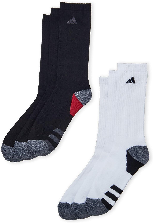 1 Pair Mens Adidas Originals Trefoil Crew Socks Black White Shoe Size 6-12