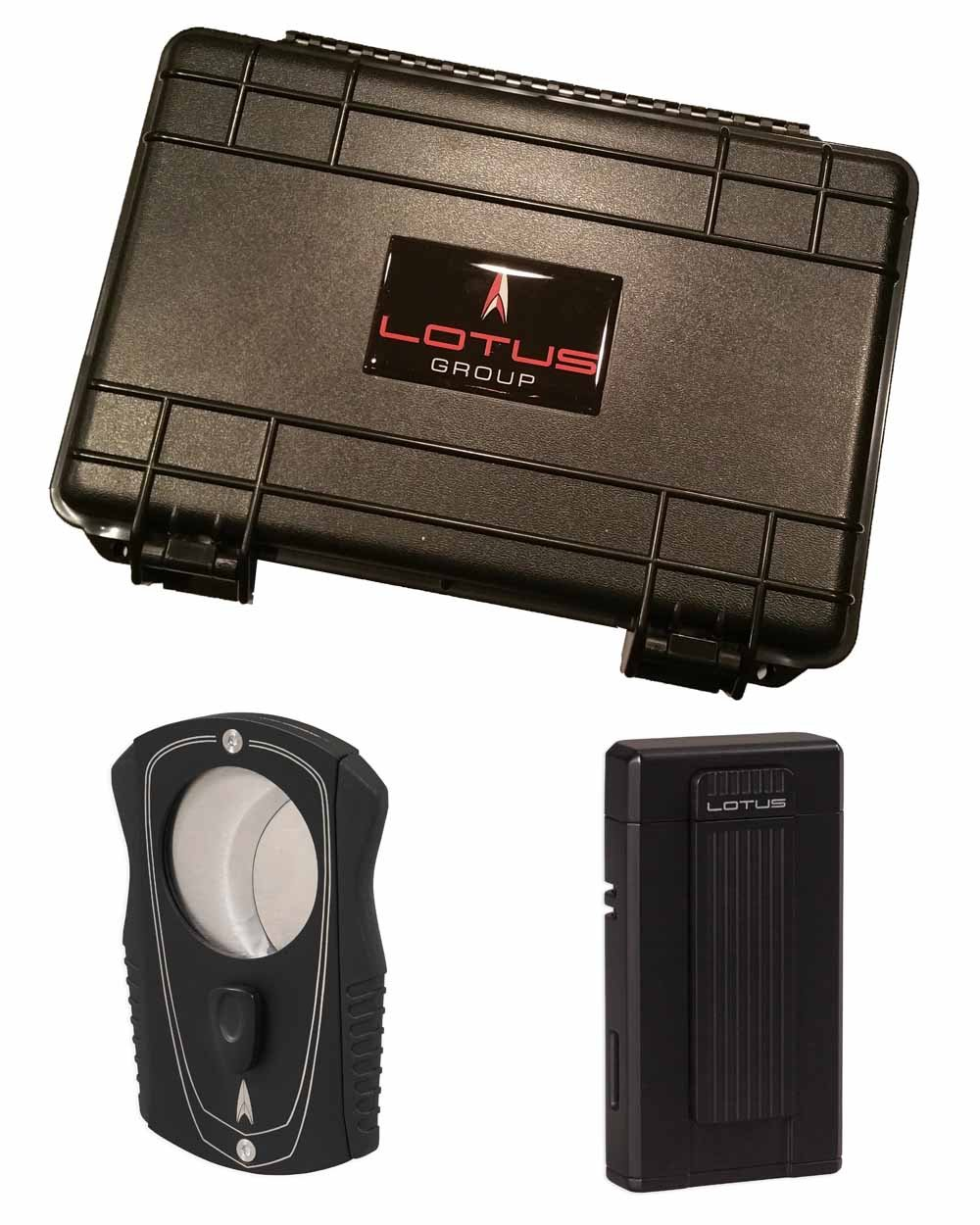 Ambassador Colussus 80 Ring Gauge Cutter Gift Set Black Lighter 5 Count Travel Humidor in an Attractive Gift Box Warranty