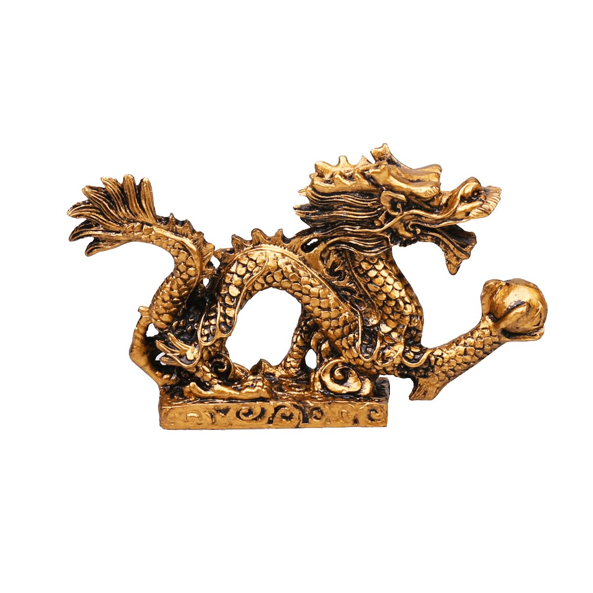 qiaoya Feng shui Dragon Luck & Success/feng shui resin dragon Statue Sculpture