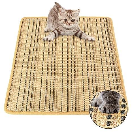 Roblue Rascador para Gatos Cama Kratz Matte Pet Sisal Pad Gato catpad Lino Mat Gato Dormir