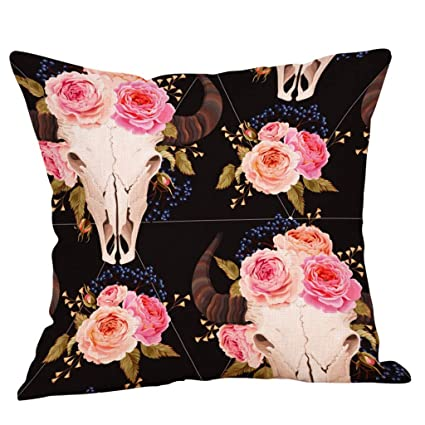 Amazon.com: Pillow Print Case Sofa Bed Cotton Pillow Home ...
