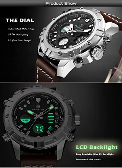 Amazon.com: Reloj deportivo digital analógico de cuarzo para ...