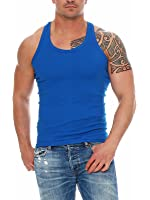 Herren Unterhemden Fitessshirt Ramboshirt Sport T-Shirt Achselhemd Muskelshirt Baumwolle von SGS