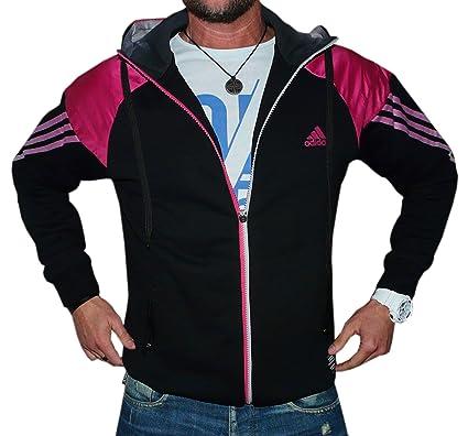 Jacke schwarz pink