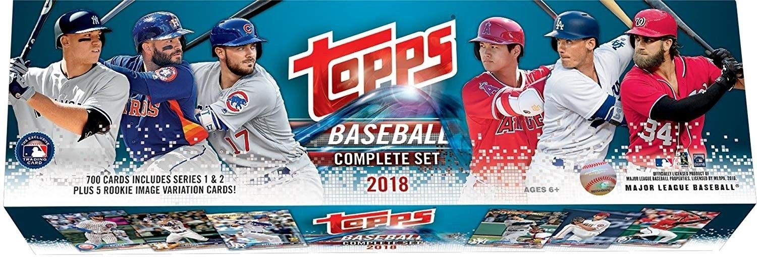 2018 Topps Retail Edition Factory Sealed Mlb Baseball 705 Card Set Including Rookie Variations Found Exclusively In This Version Plus Basic Rookies Of