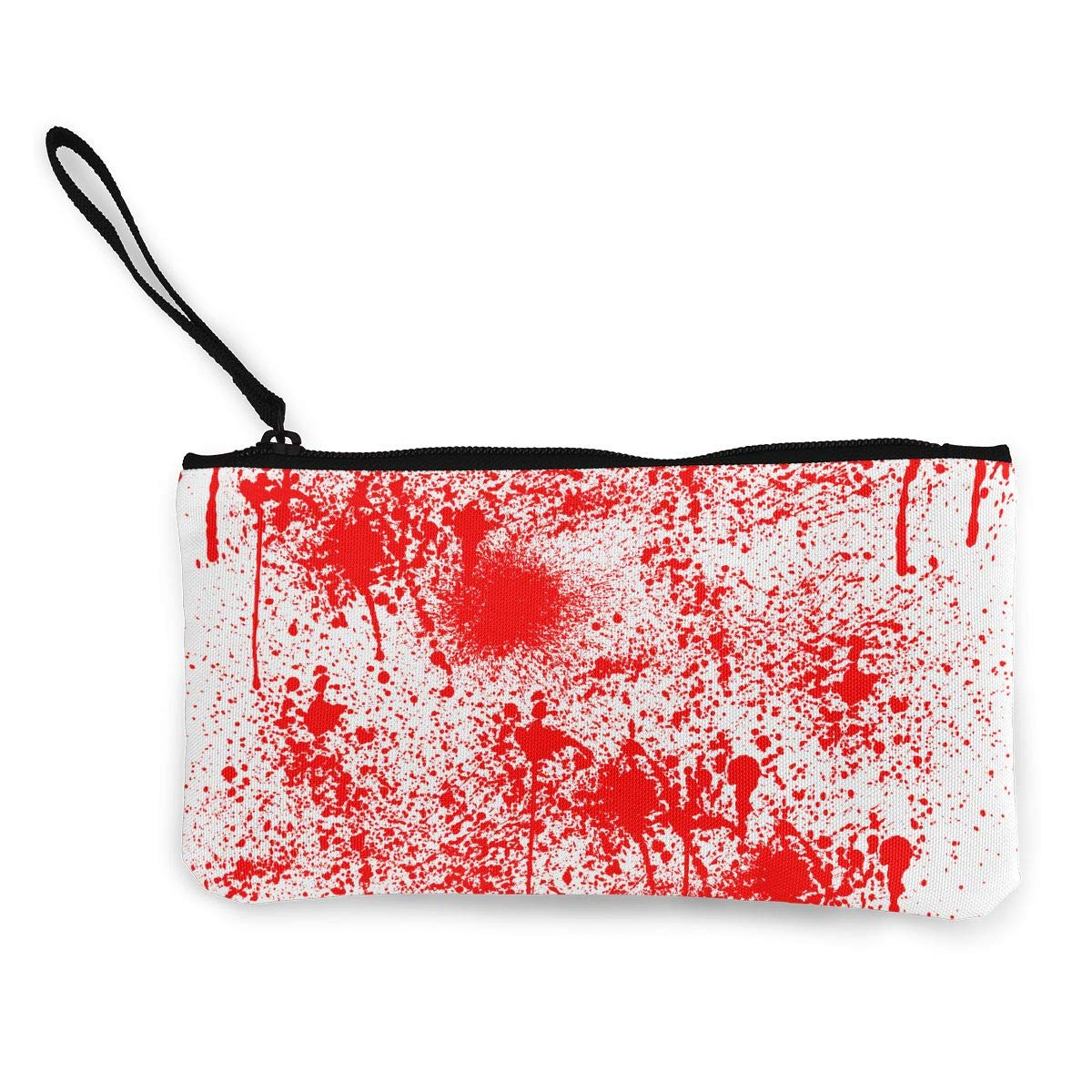 Cellphone Bag With Handle DH14hjsdDEE Splash Blood Scary Zipper Canvas Coin Purse Wallet Make Up Bag