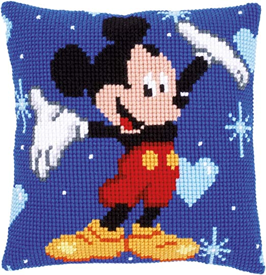 Vervaco-Cojín de Punto de Cruz Kit Frontal-Mickey Mouse-PN-0014602