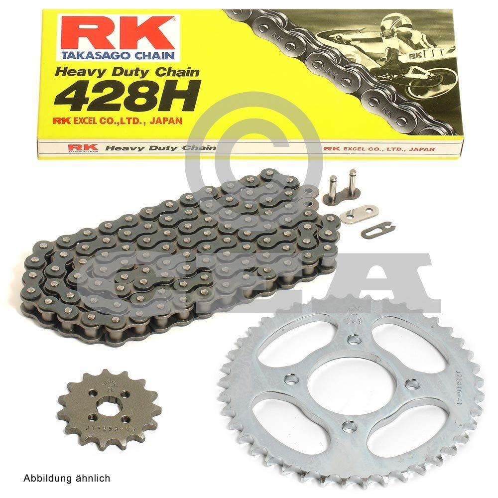 Kette RK 428 H 132 15//45 Kettensatz Suzuki GZ 125 Marauder 98-13 offen