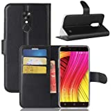 MUXItrade Blackview A10 PU Leather Case, Premium PU Leather Wallet Case [Card Slots Stand Feature][Magnetic Closure] Flip Cover Case Blackview A10 (Black)