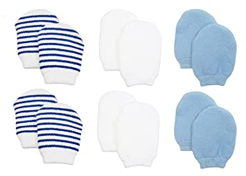 e075ea0a76d Amazon.com  Newborn Baby No Scratch Cotton Mittens (Includes 2 Pairs ...