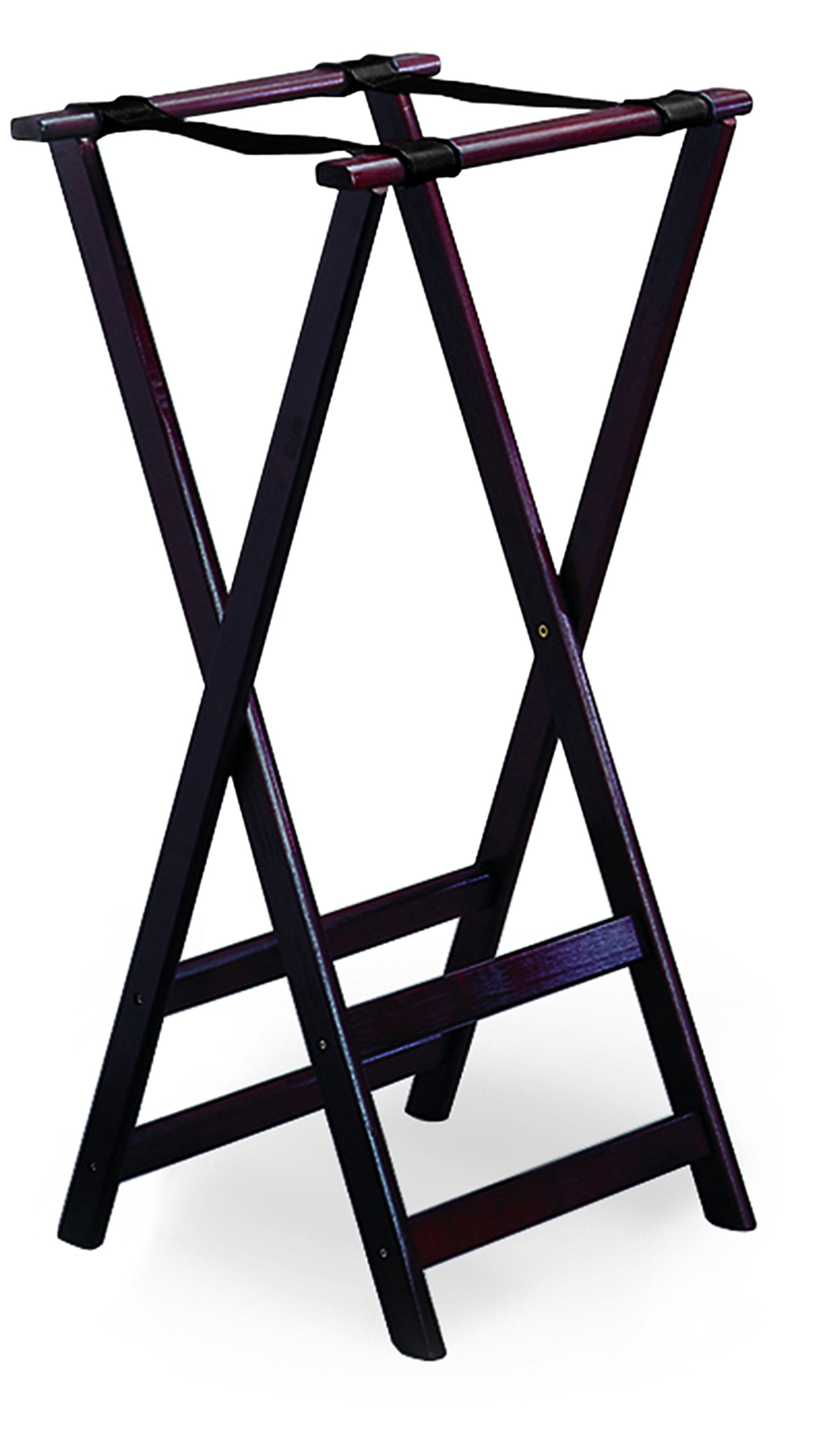 TableCraft Products 22 Tray Stand, Mahogany, 38'' H