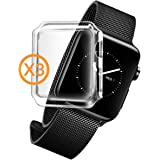 Cases for AppleWatch 2, Orzly - InvisiCase MULTI-PACK - Pack of 3 CLEAR Touch Compatible Case Style Front Screen Protectors [Full Screen Cover] for Apple Watch Series 2 (2016 Models) [38 MM VERSION]