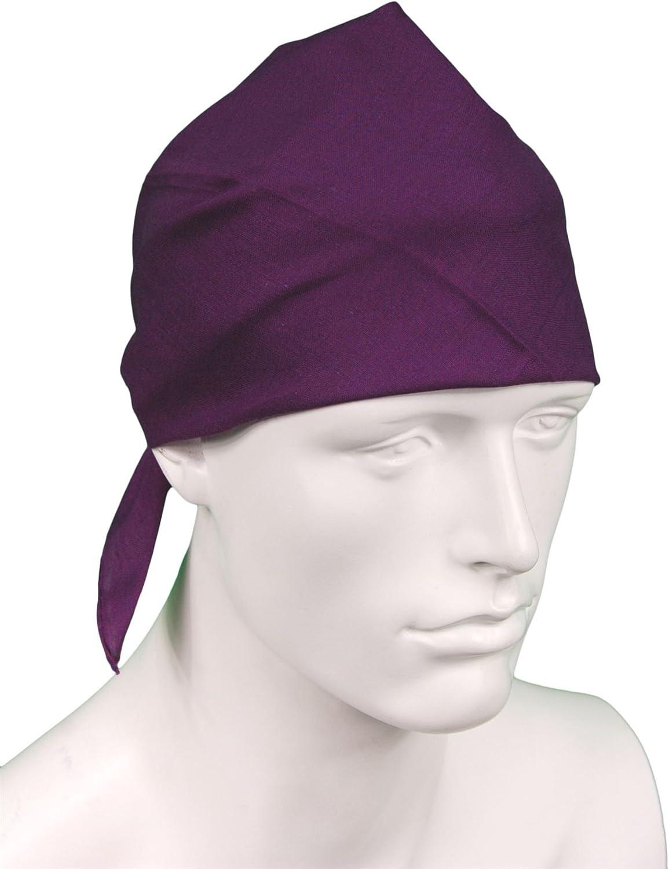 Pañuelo morado de algodón, Bandana para la cabeza: Amazon.es: Hogar