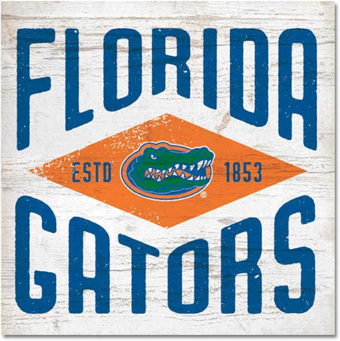 One Size NCAA Legacy Florida Gators Table Top Square Wood