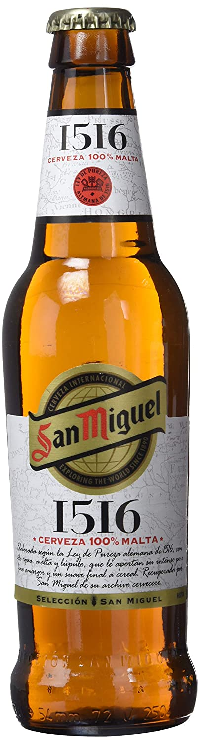 San Miguel 1516. Cerveza Lager nacional. Pack de 6 botellas de 330 ml: Amazon.es: Amazon Pantry
