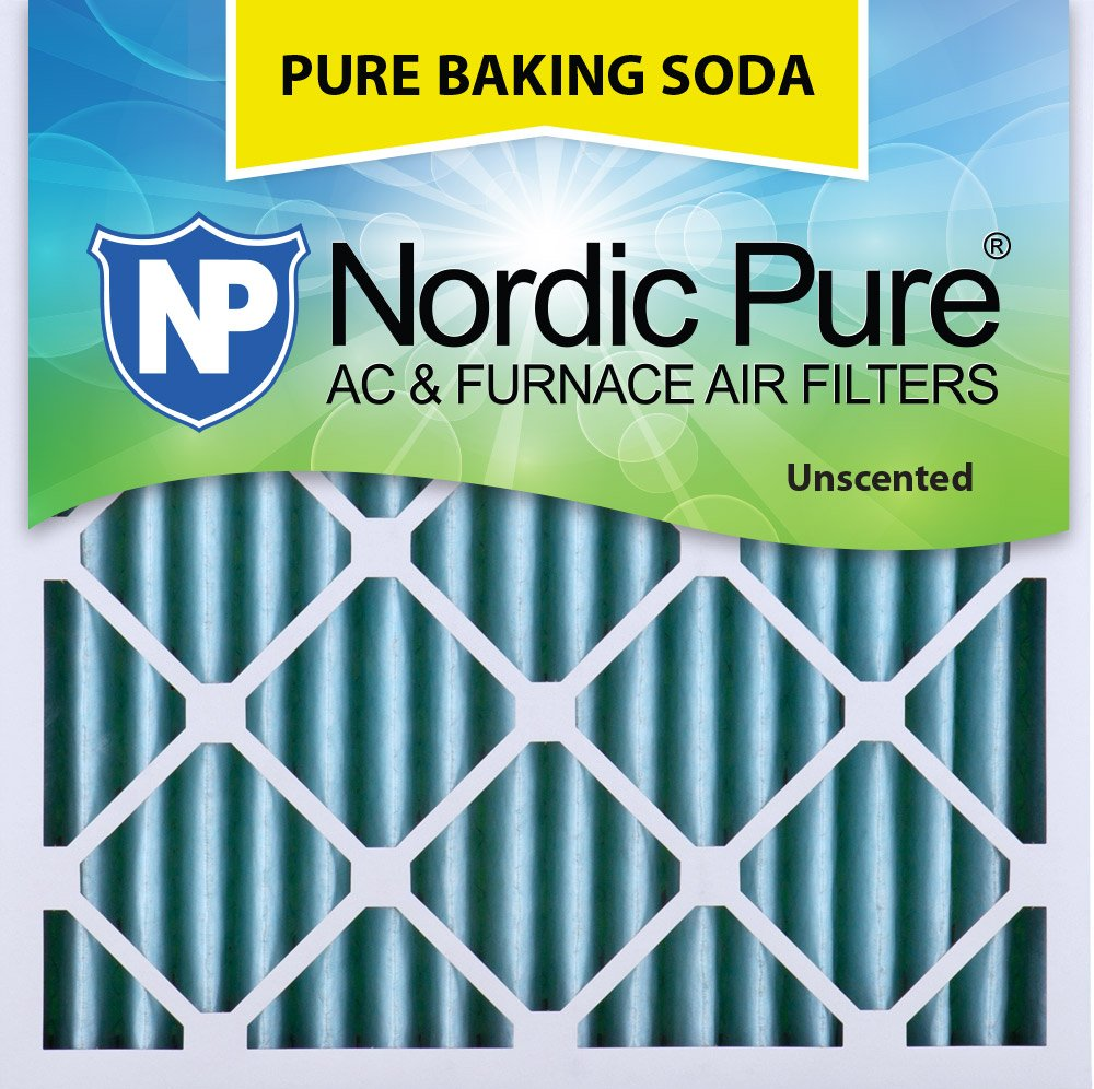 "Nordic Pure 25x25x2PBS-3 Pure Baking Soda Air Filters (Quantity 3), 25"" x 25"" x 2"""