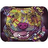 """YJBear Lovely Dog Pattern Print Floor Mat Rectangle Doormat Kitchen Floor Runner Home Decor Carpet Coral Fleece Indoor 16"""" X 24"""""""