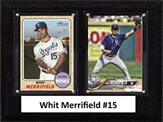 """product image for C&I Collectables MLB Kansas City Royals Mens 68MERRIFIELDMLB 6""""x8"""" Whit Merrifield Kansas City Royals Two Card Plaque, Brown, N/A"""