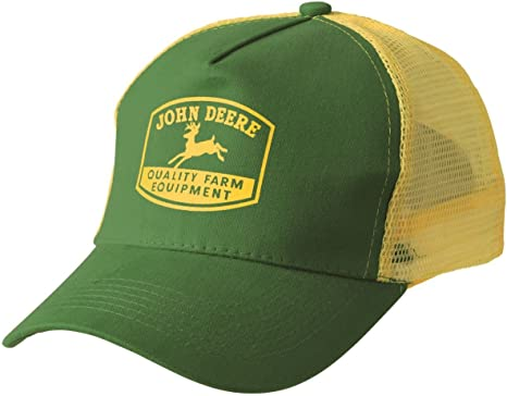 John Deere - Gorra de malla Tradition color amarillo/verde: Amazon ...