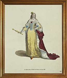 Berkin Arts Thomas Jefferys Classic Framed Giclee Print On Canvas-Famous Paintings Fine Art Poster-Reproduction Wall Decor(Queen Anne of Austria Wife of Louis XIII The Reyne Anne Dautriche WOM) #JK