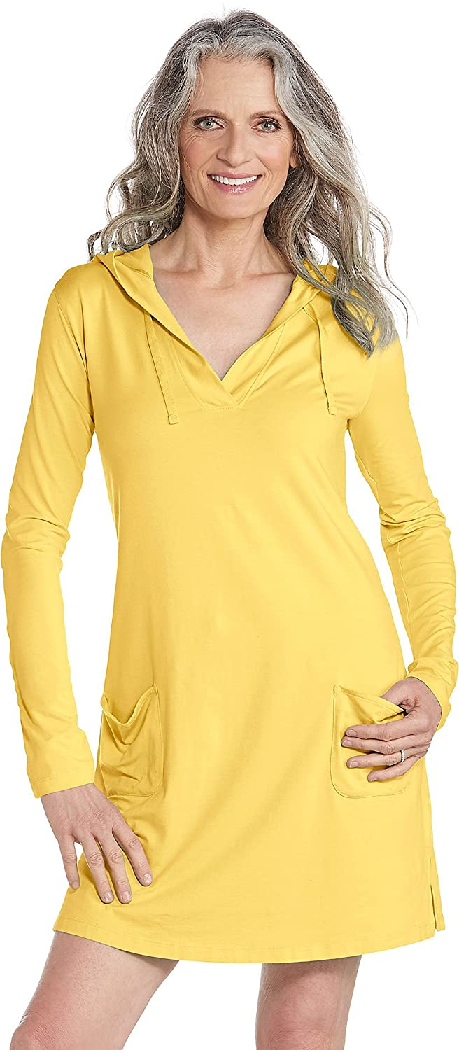 fd3a8a4c40 Coolibar UPF 50+ Women s Beach Cover-Up Dress - Sun Protective at Amazon  Women s Clothing store