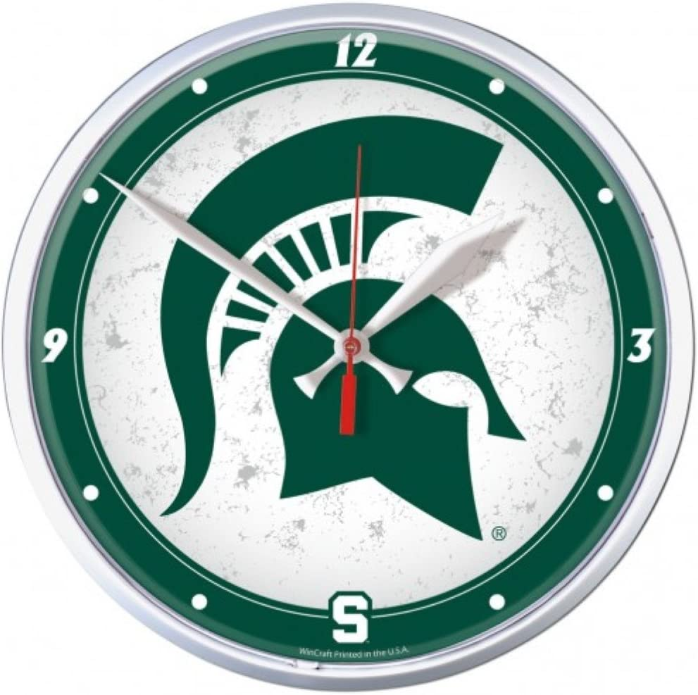 NCAA Michigan State Spartans WinCraft Official Round Clock
