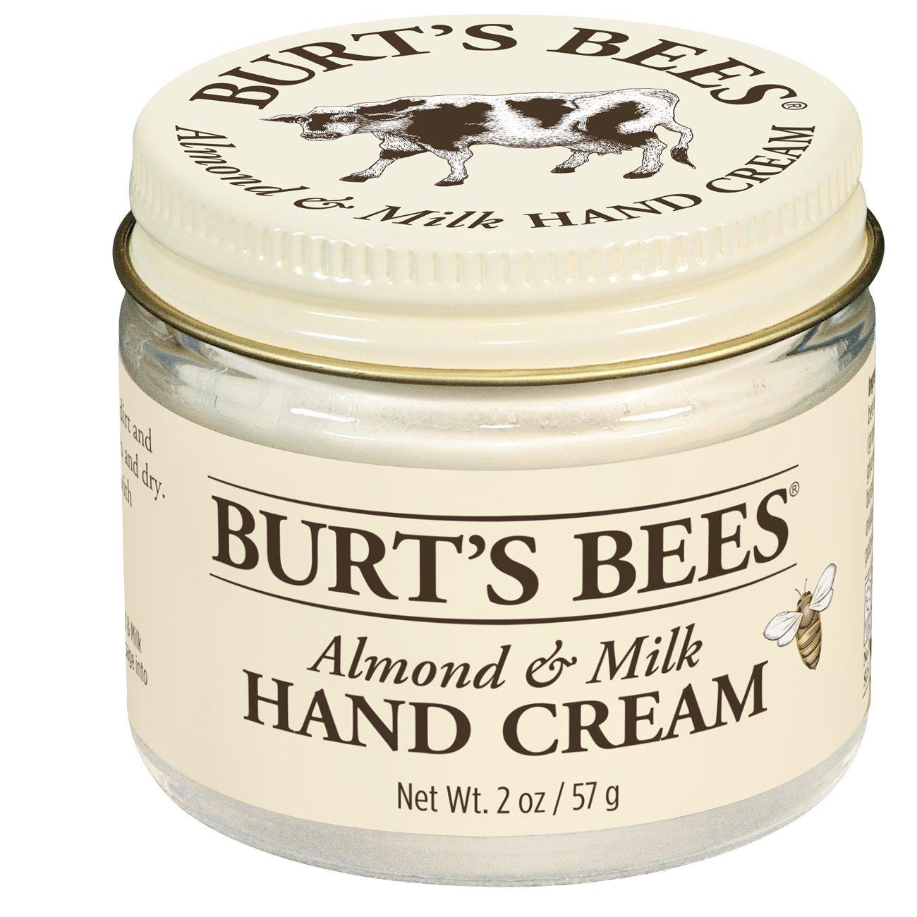 Burt's Bees Almond & Milk Hand Cream - 2 Ounce Jar (Pack of 2)
