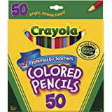 Crayola; Colored Pencils; Art Tools; 50 Count; Perfect for Art Projects and Adult Coloring