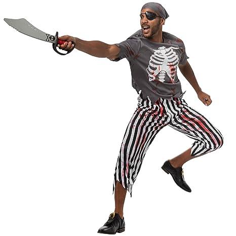 dressforfun 900442 - Disfraz de Hombre Pirata Espeluznante ...