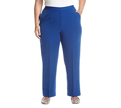 4a4b9fee2714d Alfred Dunner Plus Size Pants at Amazon Women s Clothing store