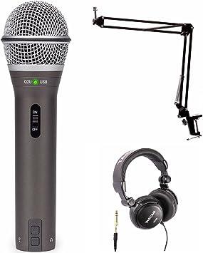 Samson Q2U - Pack de grabaciones y podcasting con micrófono USB ...