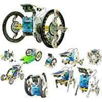 14 in 1 Solar Robot Kit construire Robot Bateau Car Boxer Chien Tortue Walker Surfer Slither Crab Row Beetle