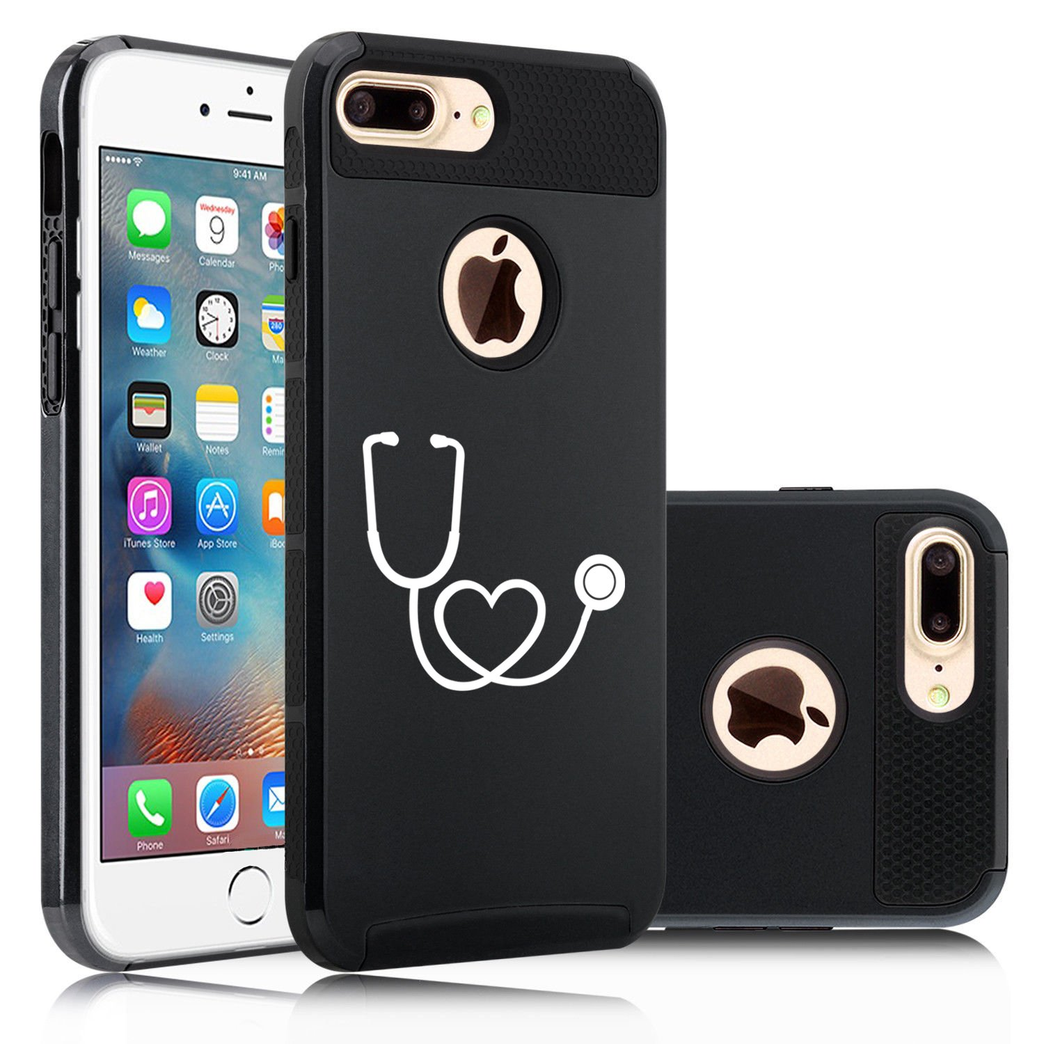 Amazon.com: iPhone de Apple (7 Plus) Impacto duro Soft Case ...