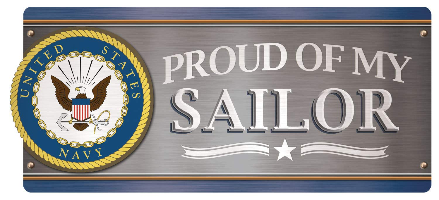 """Paper House Productions 8.5"""" x 4"""" Die-Cut Proud of My Sailor Magnet for Cars, Refrigerators and Lockers"""