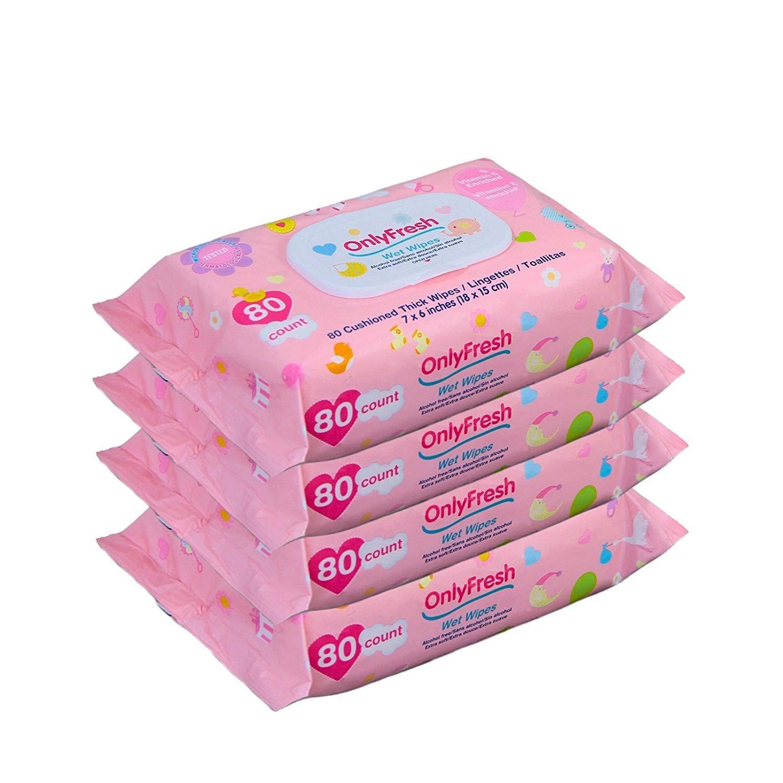 Amazon.com : Baby Wipes, 320 Count, Hypoallergenic, Sensitive Skin, 4 Flip-Top Packs - Girls : Baby