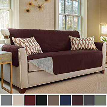 Gorilla Grip Original Slip Resistant Oversize Sofa Slipcover Protector, Seat Width Up to 78 Inch Suede-Like, Patent Pending, 2 Inch Straps, Hook, ...