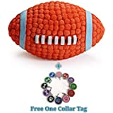 Petlicious & More Dog Squeaky Rugby Ball Toy (Medium)