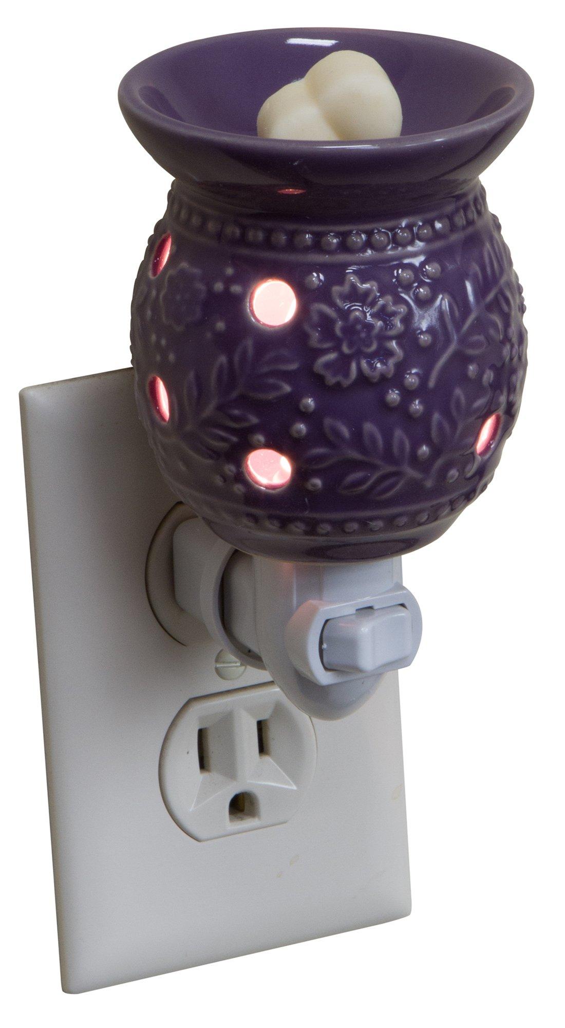 Tuscan Vineyard Night Light Scent Melt Warmer (Purple)