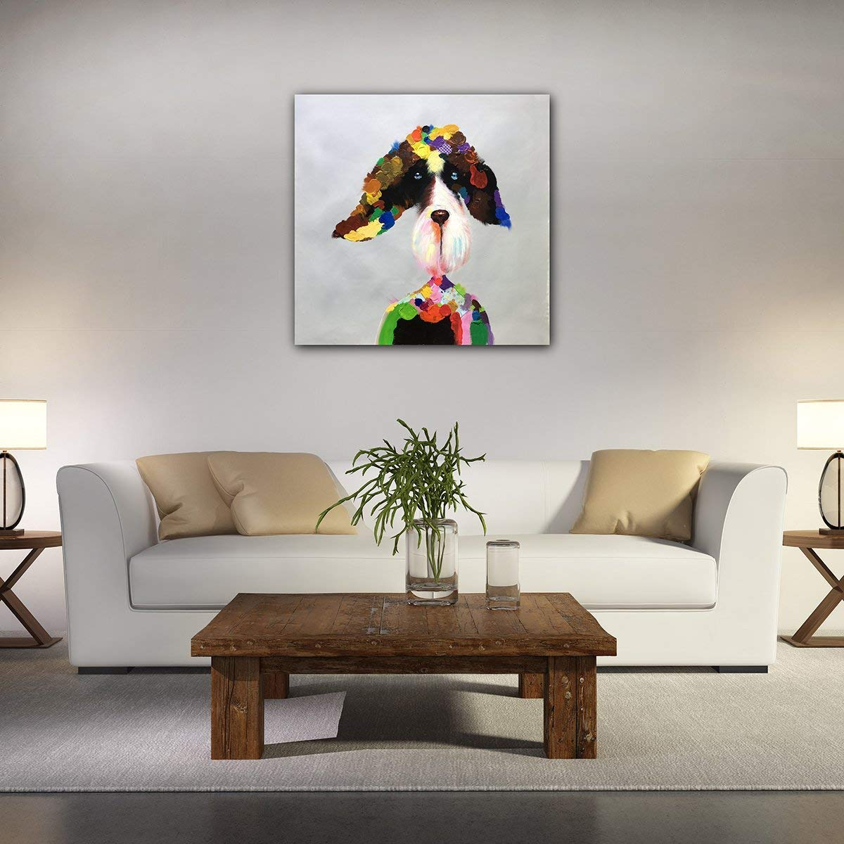 24inch Cows MUNKN Own Oil Painting Pure Hand-Painted Thick Oil Paintings for Wall Decoration 24