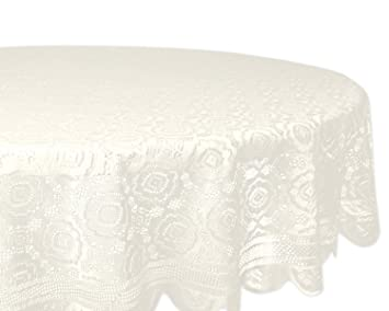 Elegant DII Home Essentials 100% Polyester, Machine Washable, Shabby Chic, Vintage  Tablecloth Or