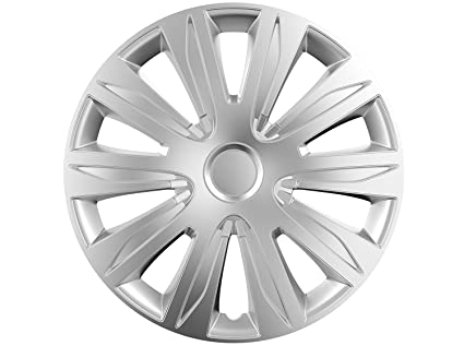 14 Juego de 4 tapacubos TAPACUBOS de rueda Modelo Nardo Plata 14 Pulgadas