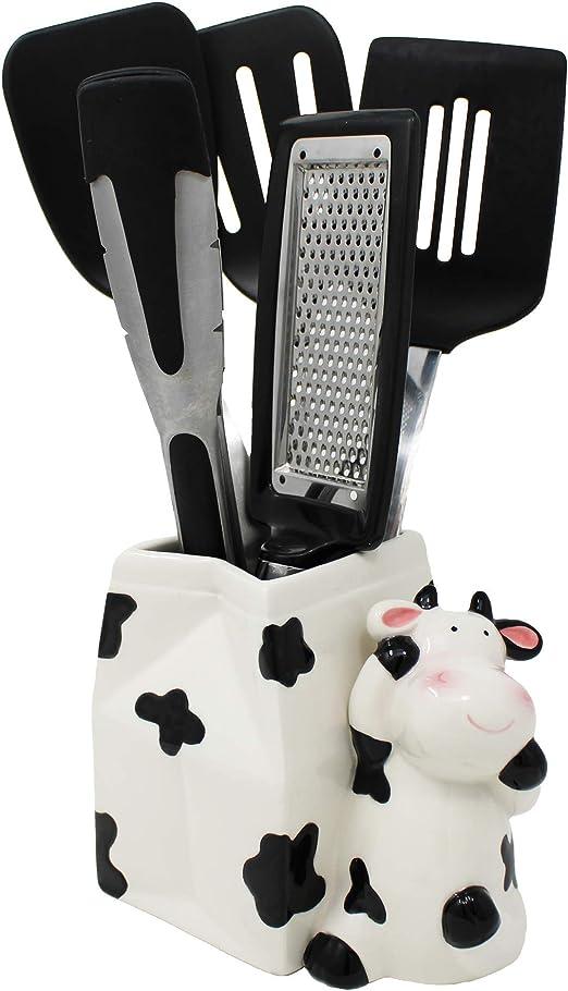 Sixdrop Cow Utensil Holder, Cow Kitchen Utensil Holder, Cow Farmhouse  Decor, Kitchen Crock Storage, Farm Decorations Decor Gift, Cow Kitchen  Decor