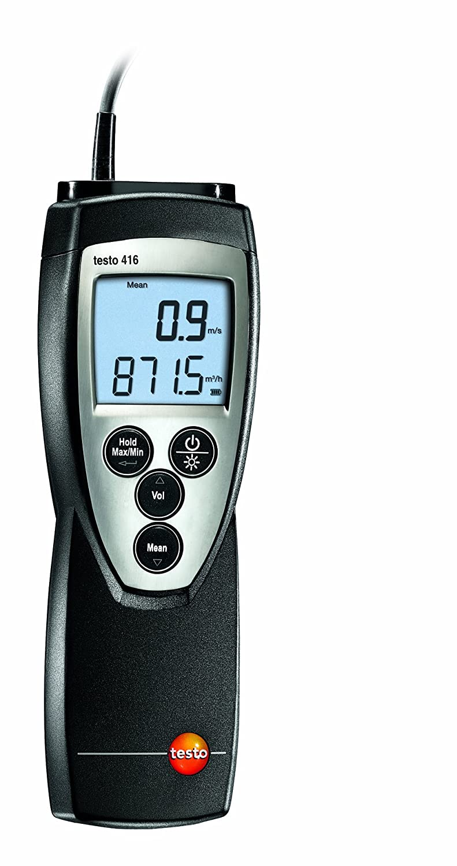 Testo 0560 4160 416 An/émom/ètre avec sonde /à h/élice piles et protocole d/étalonnage diam/ètre 16 mm long. 890 mm max. t/élescopique