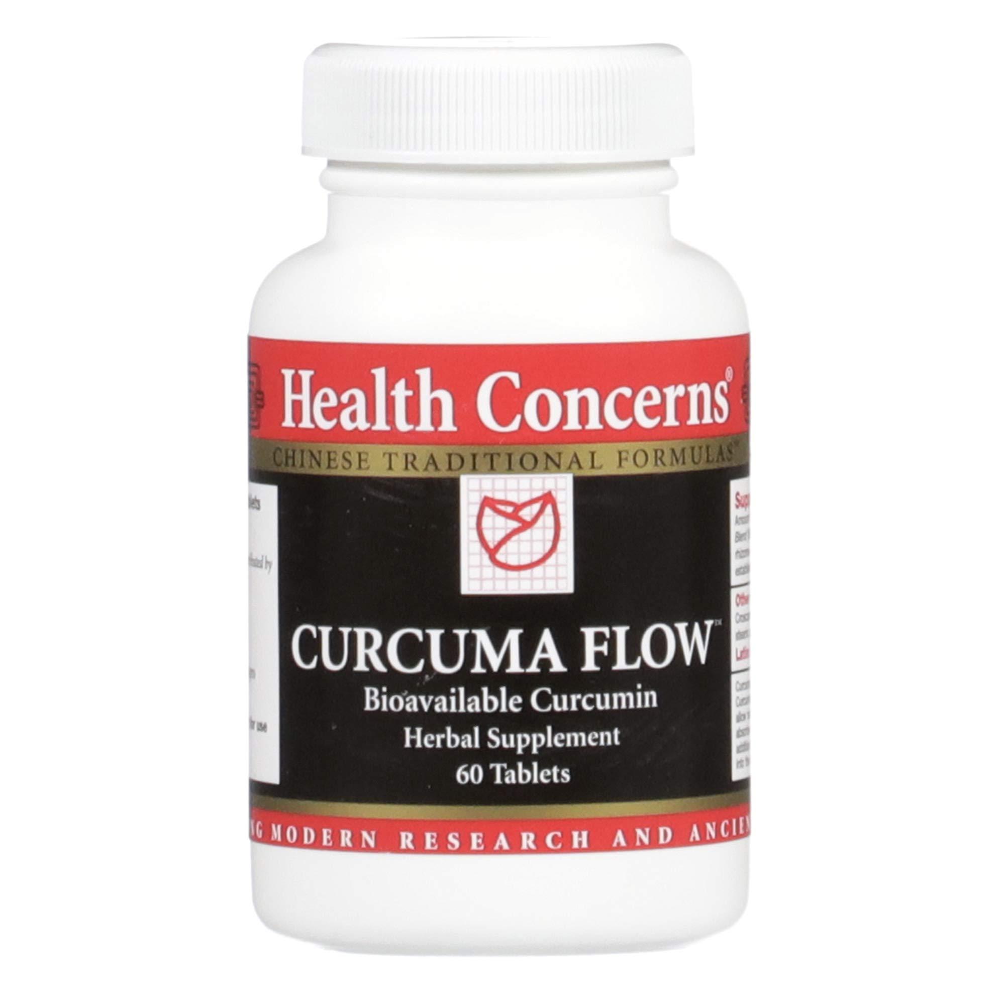 Health Concerns - Curcuma Flow - Bioavailable Turmeric Herbal Supplement - 60 tabs