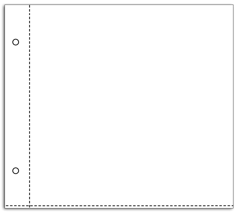 /Confezione di 10/buste trasparenti per album di Scrapbooking plastica trasparente 20/x 20/x 0,5/cm Toga al11e/