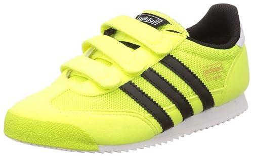 adidas Dragon CF C - Zapatillas para niño, Color Lima/Negro/Blanco, Talla 28: Amazon.es: Zapatos y complementos