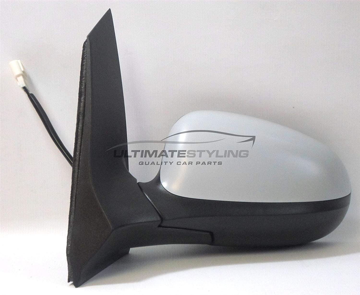 Ultimate Styling Replacement Electric None Power Folding Wing Door Mirror With Heated Glass With Primed Mirror Cover Cap Side Of Product Passenger Side LH