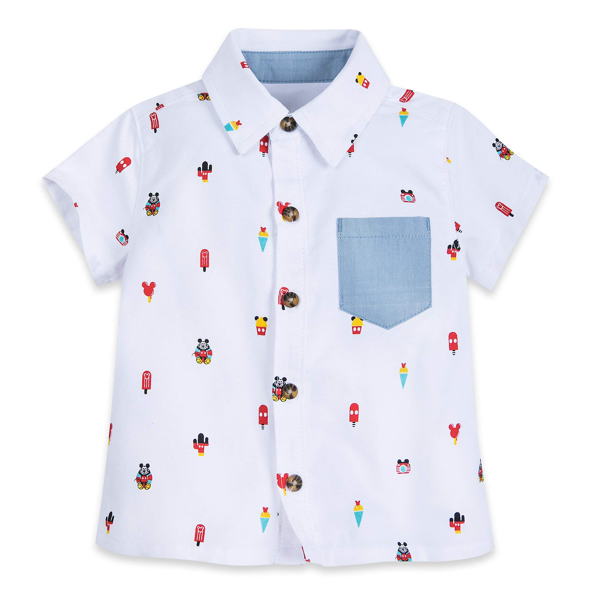 Disney Mickey Mouse Summer Fun Woven Shirt for Baby