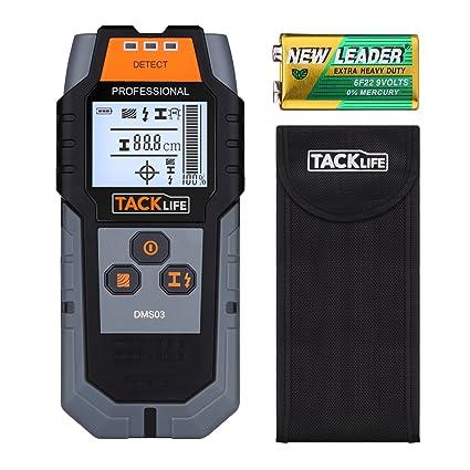 Tacklife - DMS03 Detector de metales de pared clásico, escáner portátil multifunción, para cables